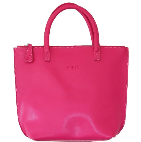 HOOPLA LEATHER MINI TOTE BAG FUCHSIA PINK
