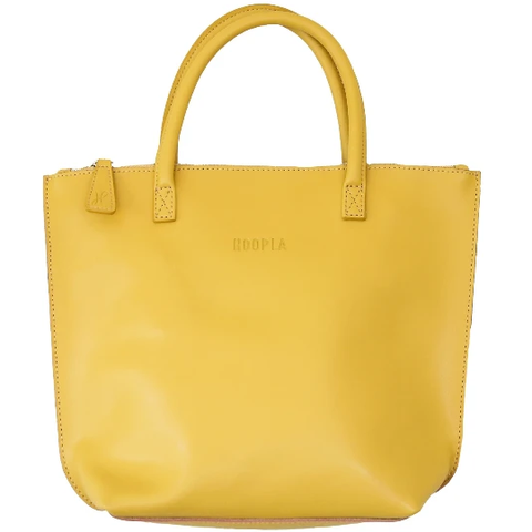 HOOPLA LEATHER MINI TOTE BAG MUSTARD YELLOW