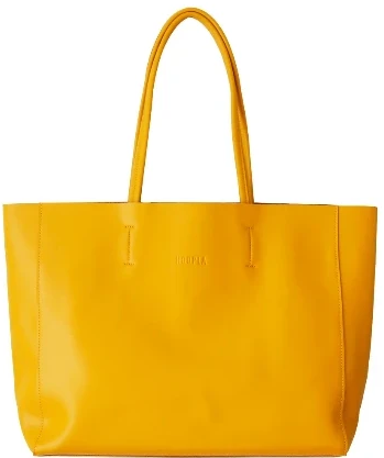 HOOPLA LEATHER LARGE LANDSCAPE TOTE MUSTARD YELLOW
