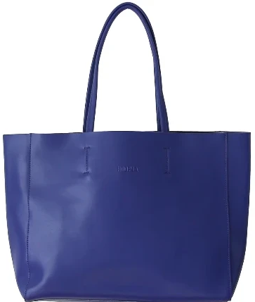 HOOPLA LEATHER LARGE LANDSCAPE TOTE BLUE