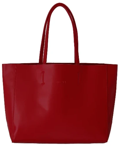 HOOPLA LEATHER LARGE LANDSCAPE TOTE BURGUNDY RED