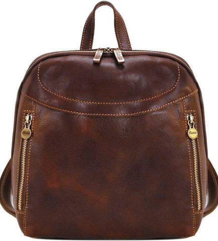 FLOTO LAMPARA LEATHER BACKPACK VECCHIO BROWN
