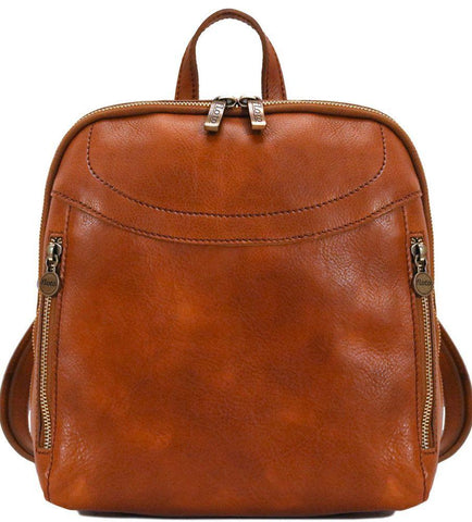 FLOTO LAMPARA LEATHER BACKPACK OLIVE BROWN