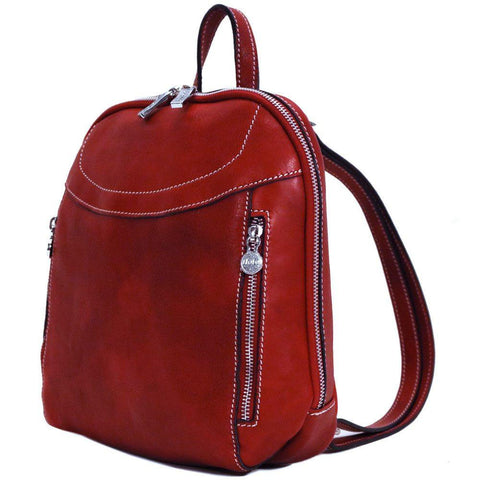 FLOTO LAMPARA LEATHER BACKPACK TUSCAN RED