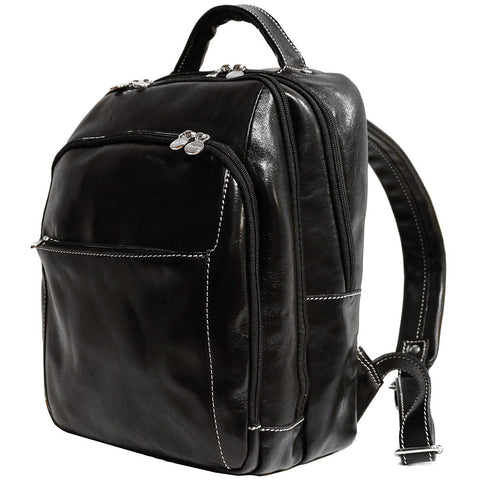 FLOTO Venezia Leather Backpack Black