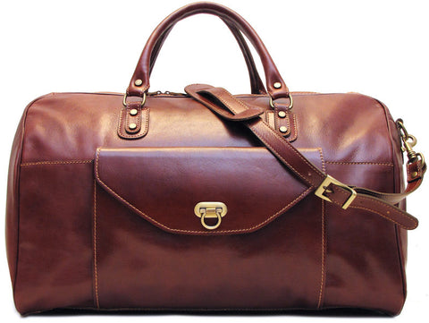 FLOTO Monteverde Leather Duffle Vecchio Brown