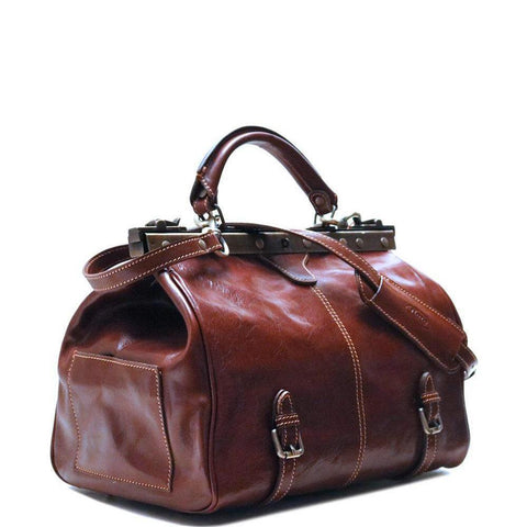Floto Italian Leather Gladstone Carry On Bag angle