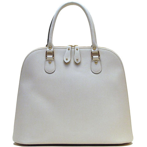 Floto Leather Handbag Ragazza Bag ivory
