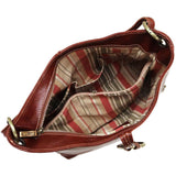 Leather Shoulder Bag Floto Tavoli Tote brown inside