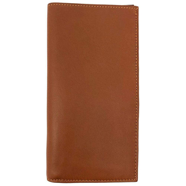 Floto Italian Leather Checkbook Wallet brown
