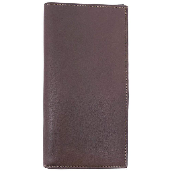 Floto Italian Leather Breast Pocket Wallet Billfold grey