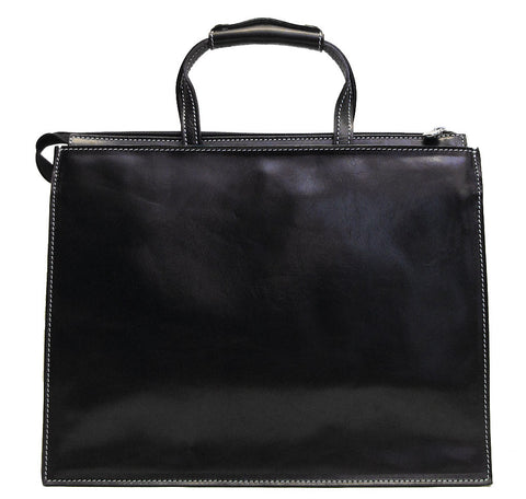 FLOTO Trastevere Leather Attache Black