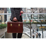 leather briefcase trastevere floto
