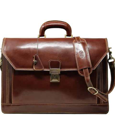 Floto Leather Venezia Briefcase