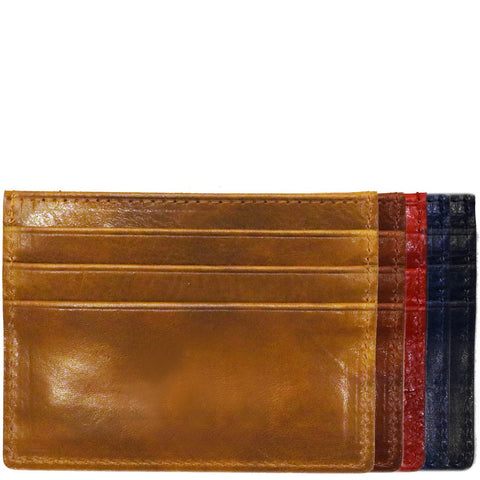Floto Italian Venezia Leather Credit Card Wallets back