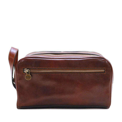 Floto Italian Leather Dopp Toiletry Bag Travel Shave Kit