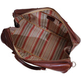 leather drop bottom duffle bag floto venezia brown
