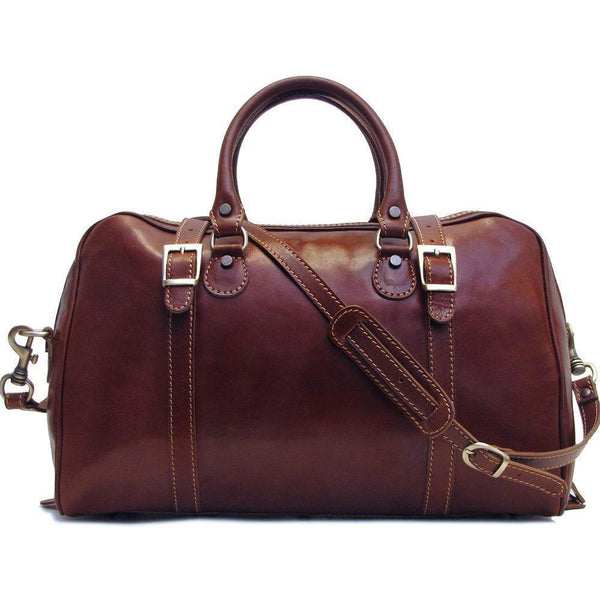 Floto Italian Leather Trastevere Duffle Bag Carryon
