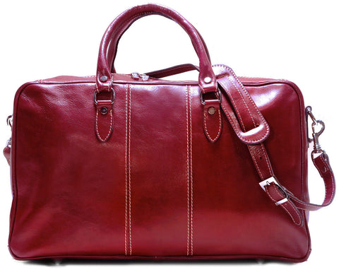 FLOTO Venezia Leather Trunk Duffle Tuscan Red