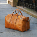 Leather Duffle Bag Floto Venezia Grande tobacco brown