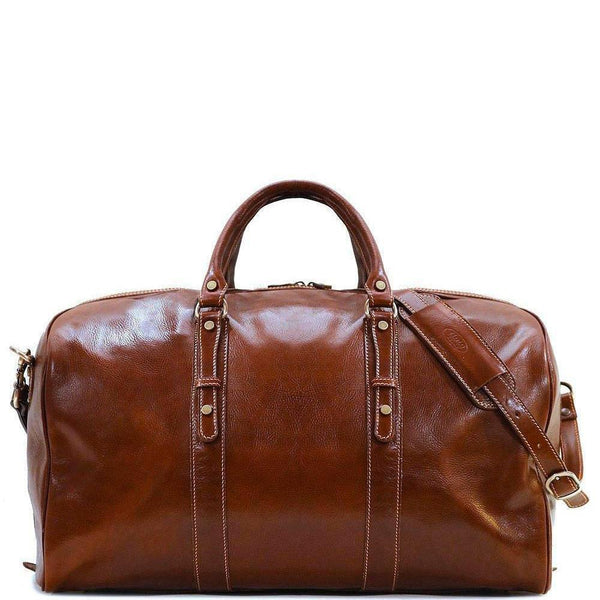 Leather Duffle Bag Floto Venezia Grande front