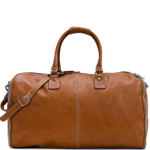 Floto Italian Parma Leather Converible Garment Duffle Bag