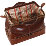 leather gladstone drop bottom duffle bag floto