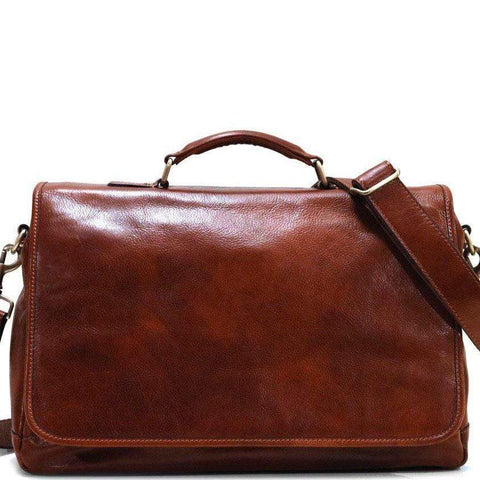 leather messenger bag cross body floto