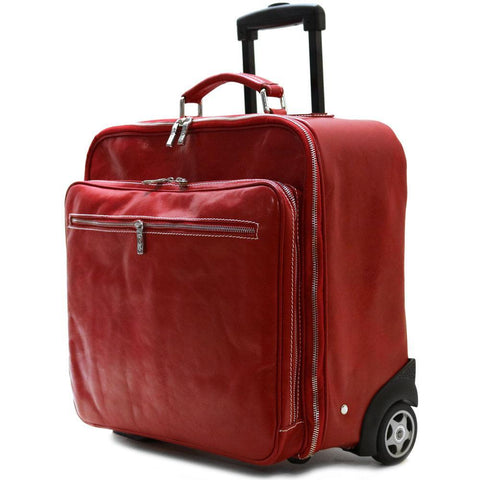 Rolling Briefcase Monticello Floto red side