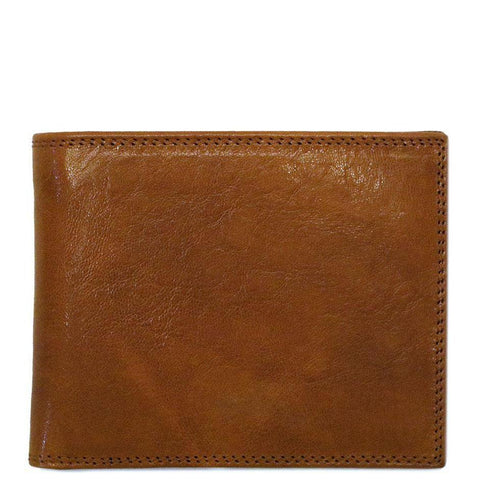 Floto Italian Leather Roma Billfold Wallet men's brown