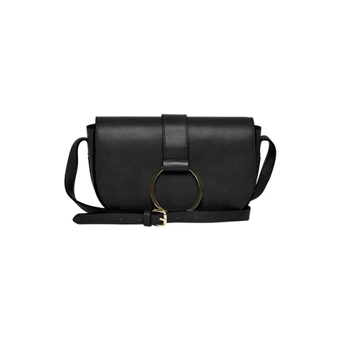 URBAN ORIGINALS Lola Leather Crossbody Shoulder Bag Black