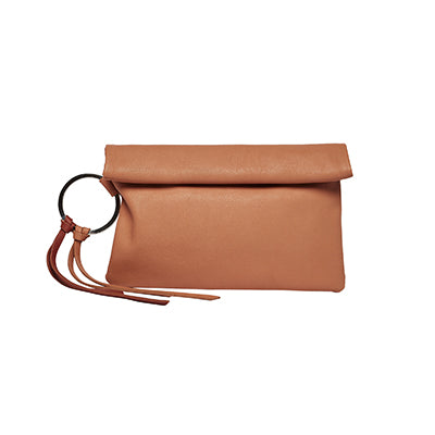 URBAN ORIGINALS LOST LOVER CLUTCH TAN BROWN