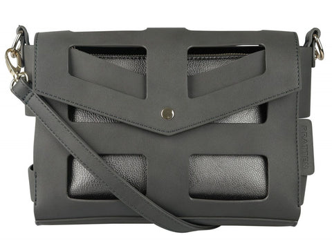 PRATTEN Monte Carlo Shoulder Bag Charcoal Grey