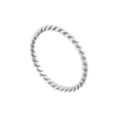 ICHU Rope Sterling Silver Ring