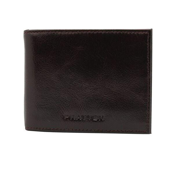 PRATTEN MENS LEATHER WALLET COFFEE BROWN