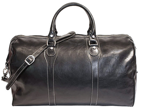 FLOTO Milano Leather Duffle Black