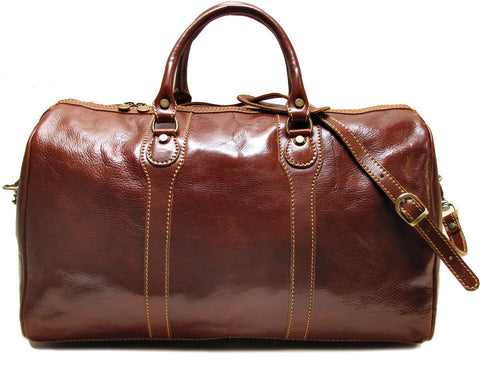 FLOTO Milano Leather Duffle Vecchio Brown