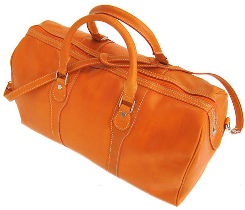 FLOTO Milano Leather Duffle Orange