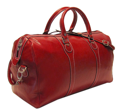 FLOTO Milano Leather Duffle Tuscan Red