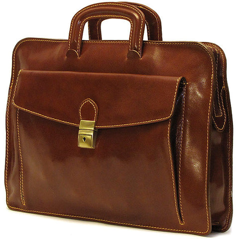 FLOTO Milano Leather Laptop Sleeve Vecchio Brown