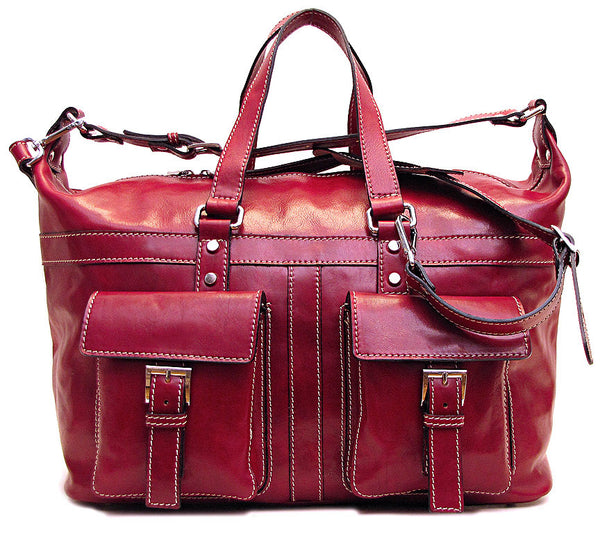 FLOTO Milano Leather Travel Bag Tuscan Red