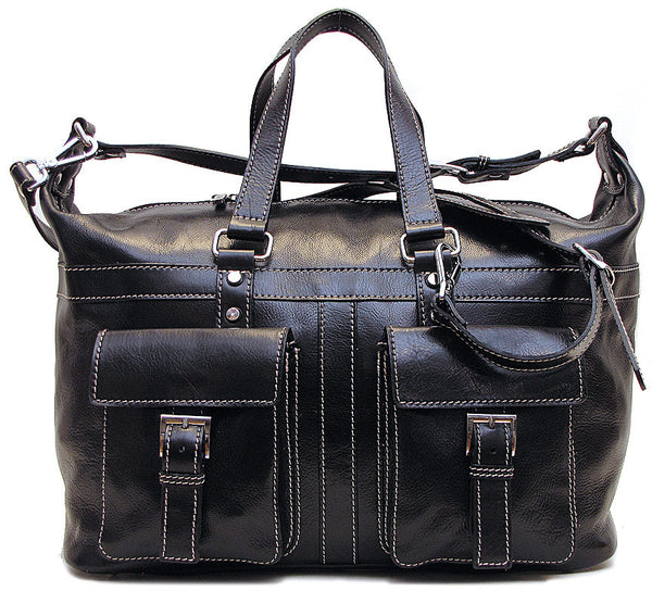 FLOTO Milano Leather Travel Bag Black