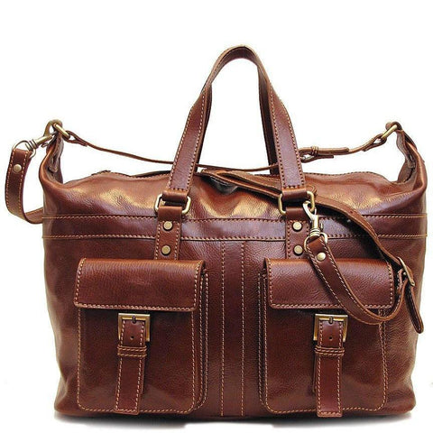 Floto Leather Milano Travel Bag
