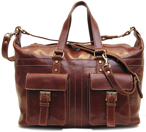 FLOTO Milano Leather Travel Bag Vecchio Brown