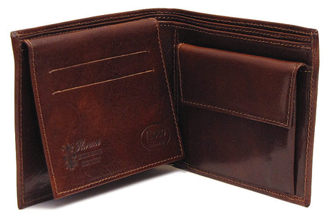 FLOTO Milano Leather Wallet Vecchio Brown