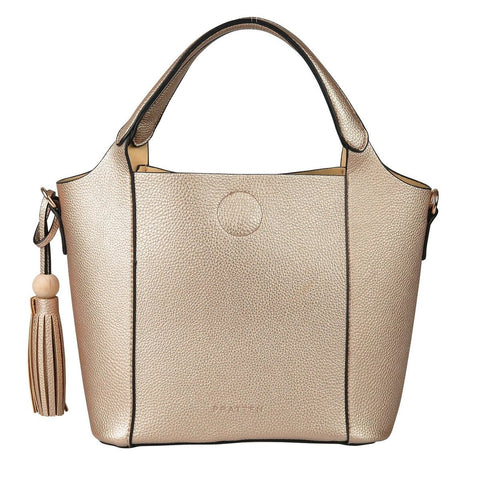 PRATTEN Mini Barbados Satchel Bag Champagne