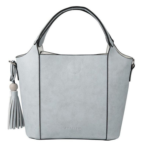 PRATTEN Mini Barbados Satchel Bag Grey