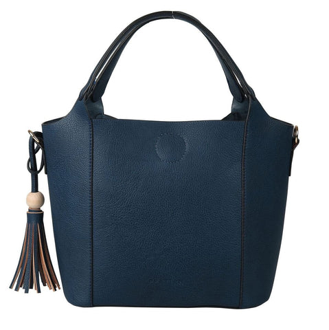 PRATTEN Mini Barbados Satchel Bag Navy Blue