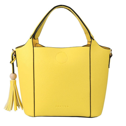 PRATTEN Mini Barbados Satchel Bag Yellow