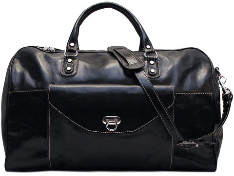 FLOTO Monteverde Leather Duffle Black
